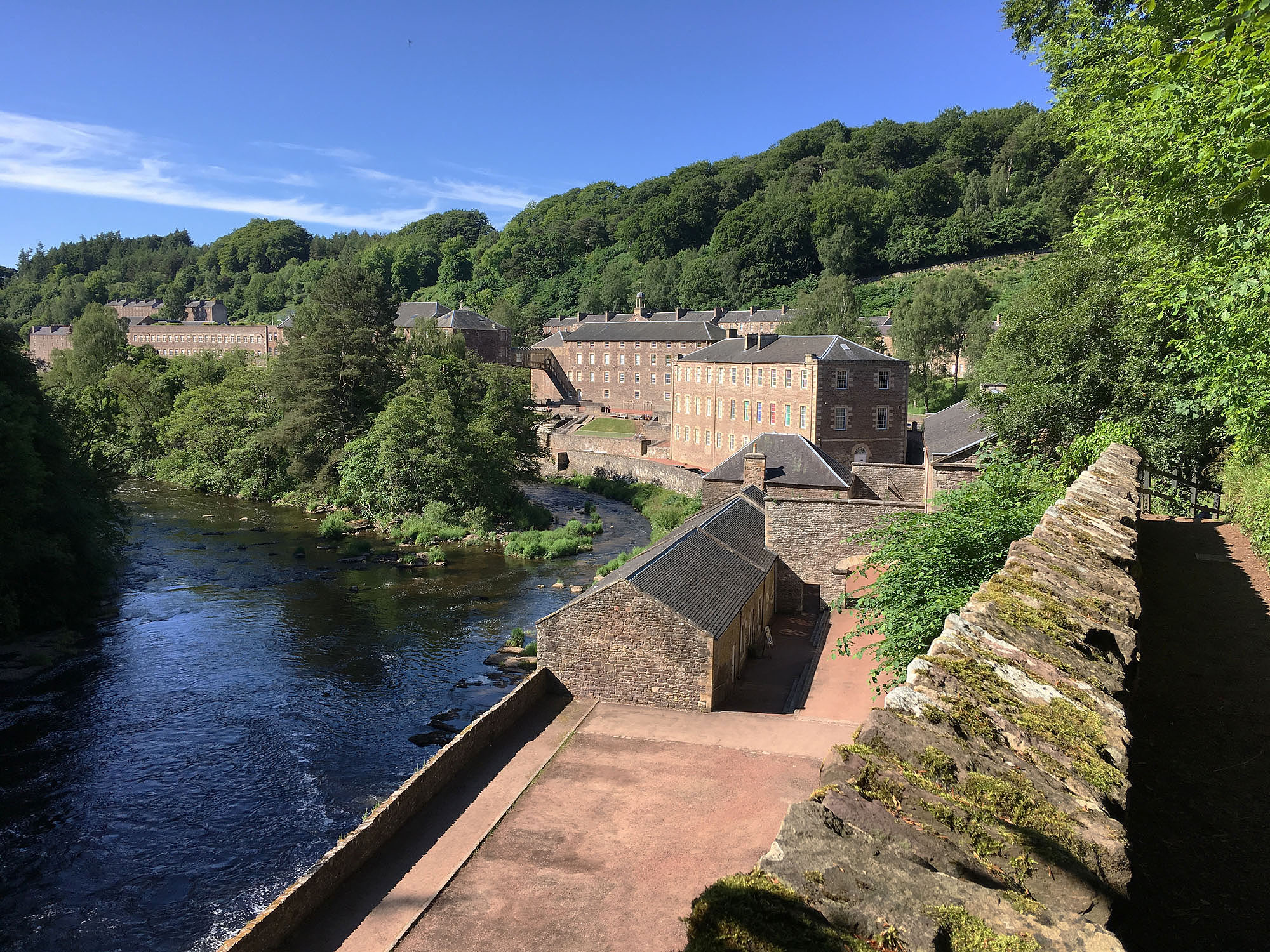 New Lanark and the River Clyde, photograph by Ritsert Rinsma
